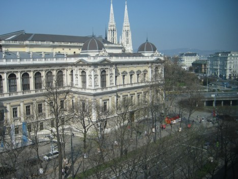 View of the University of Vienna from the Law Office of Dorda Brugger Jordis