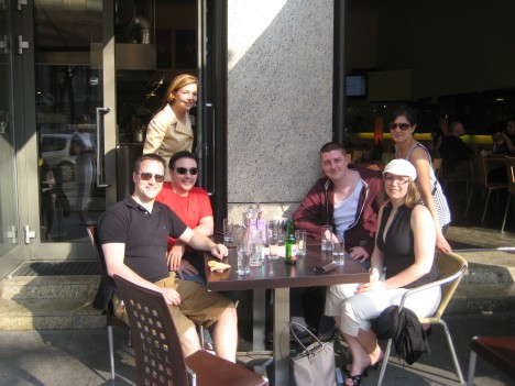 University of Ottawa Moot Team - Taking a break in the sun